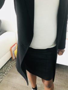 Jupe fourreau idée tenue femme enceinte
