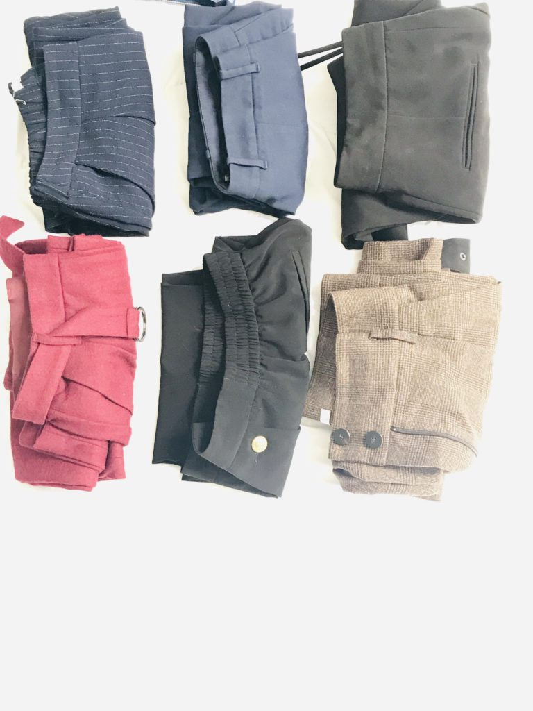 désencombrer ma garde-robe les pantalons